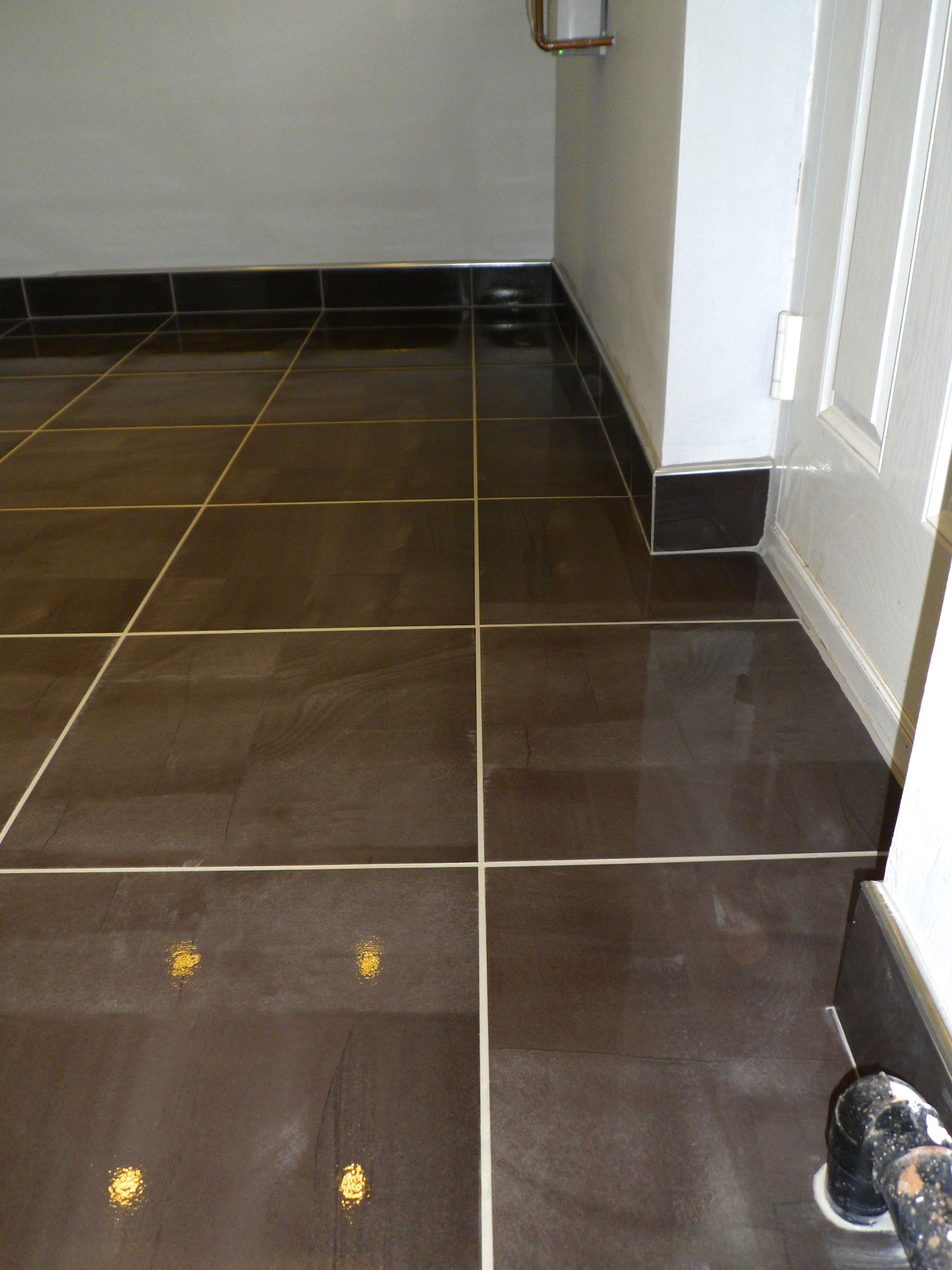 Tiled Skirting Board With Chrome Trim Tiling Decor Pinterest Wiring Baseboard Baseboards Boards New Home