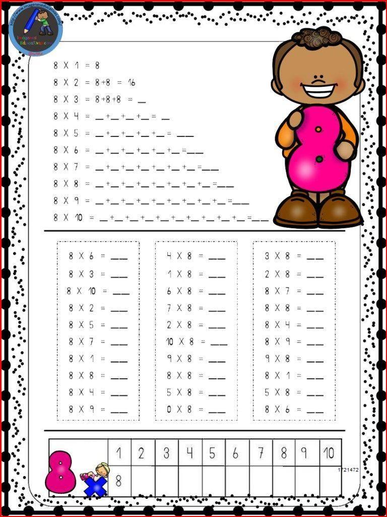 Hojas para repasar las tablas de multiplicar - Imagenes Educativas in 2020    Multiplication facts [ 1024 x 768 Pixel ]