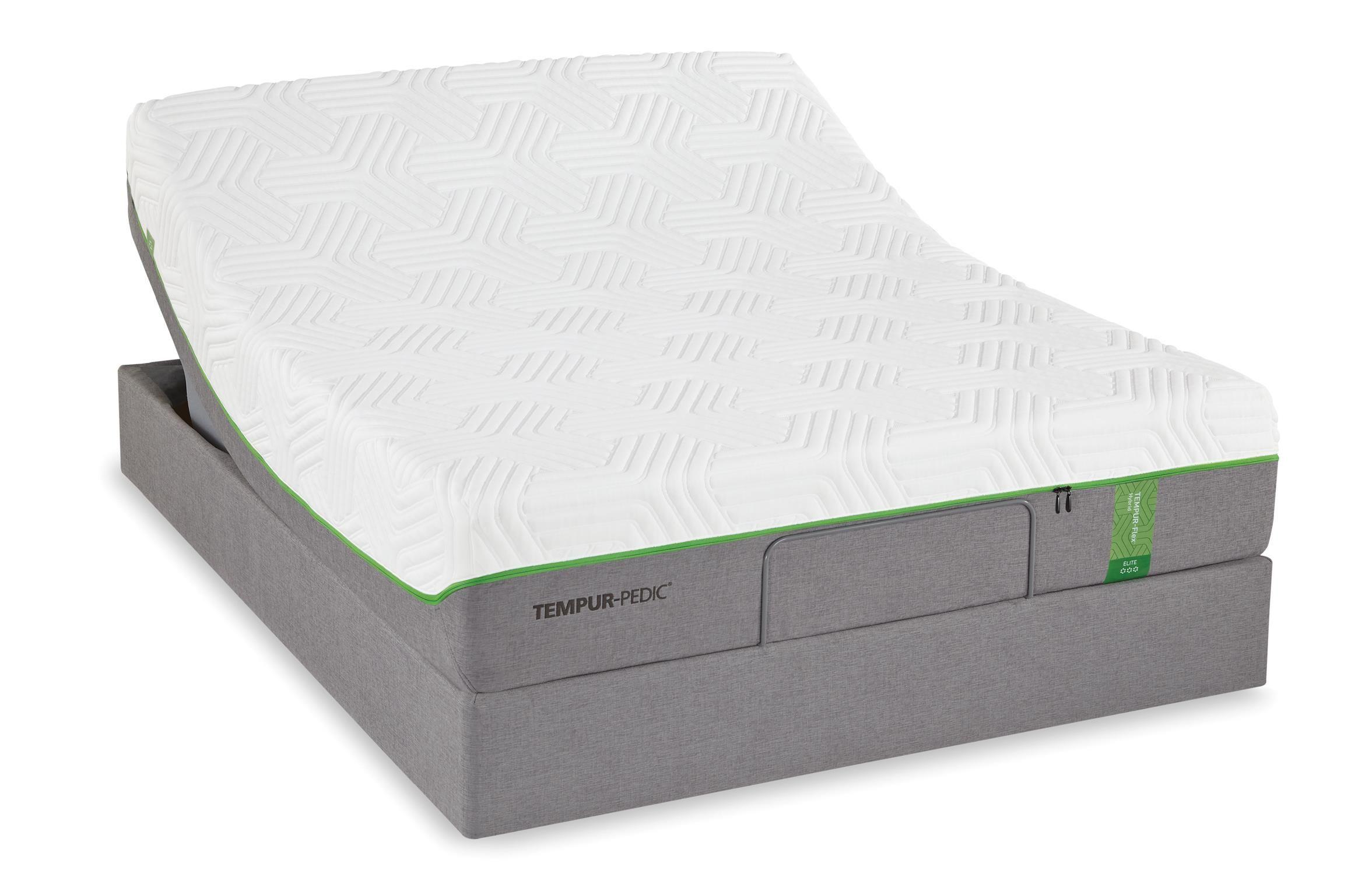 tempur flex elite queen medium soft plush mattress set by tempur