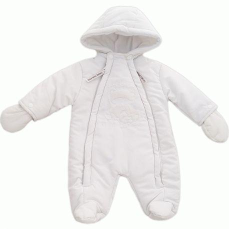 72254ac8deaeb Combi-pilote bébé prématuré 45 cm en polyester blanc Ourson   Babystock