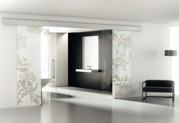 Porte scorrevoli in vetro zen purist interiors - Porte in vetro design ...