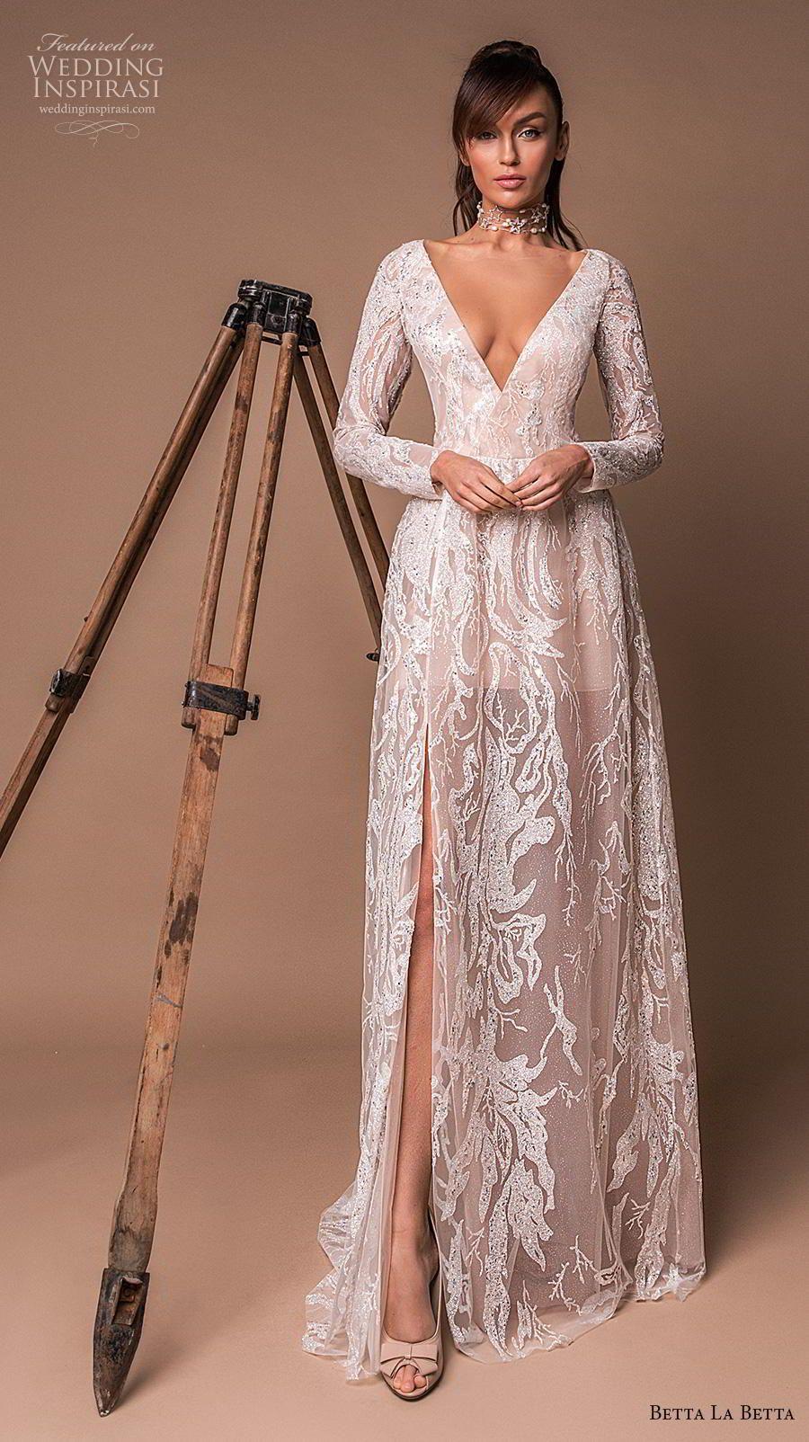 Julie Vino Spring 2020 Wedding Dresses Barcelona Bridal Collection Wedding Inspirasi Julie Vino Wedding Dress Wedding Dress Long Sleeve White Lace Wedding Dress