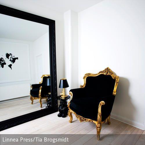 Barock-Sessel in Schwarz - schlafzimmer barock