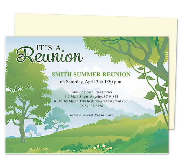 Forest Reunion Party Invitation Templates Use With Word
