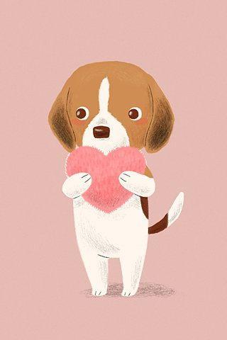 Puppy Love Puppy Art Beagle Art Dog Wallpaper