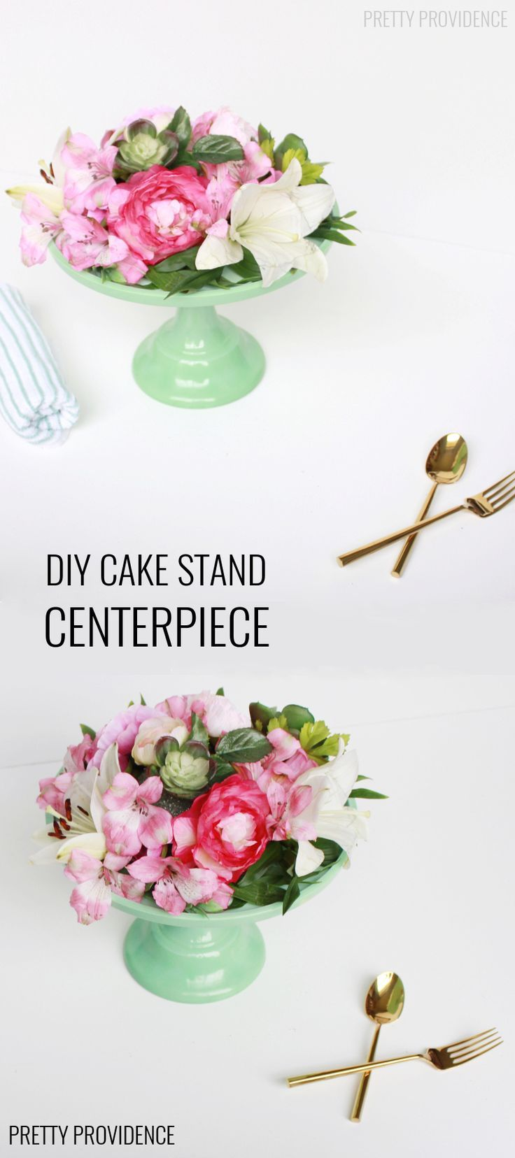 Floral Cake Stand Centerpiece | Floral cake, Centerpieces and Easter