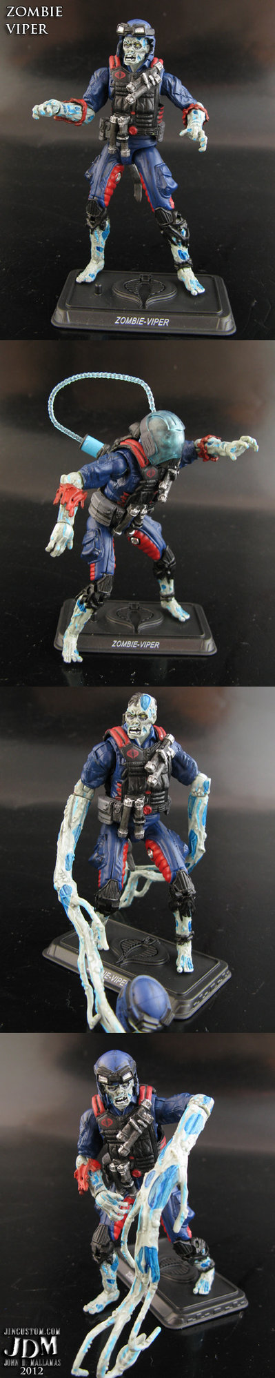 Cobra Zombie Viper custom action figure - G.I. Joe - John Mallamas