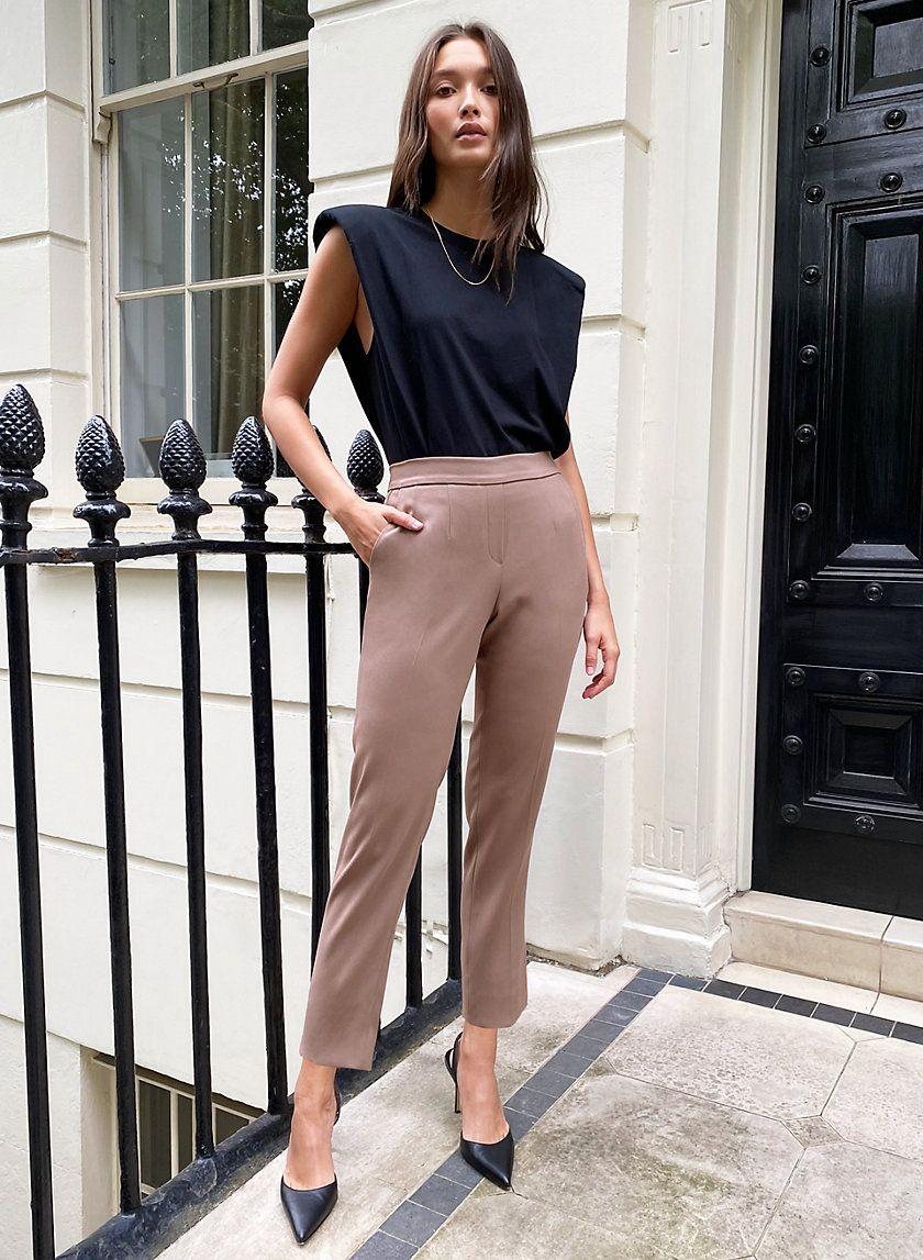 Conan Pant Slim Fit Dress Pants Fitted Dress Pants Shirt Outfit Women [ 1147 x 840 Pixel ]