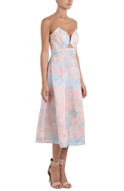 Zimmermann Seer Marble Plunge Dress 595 00