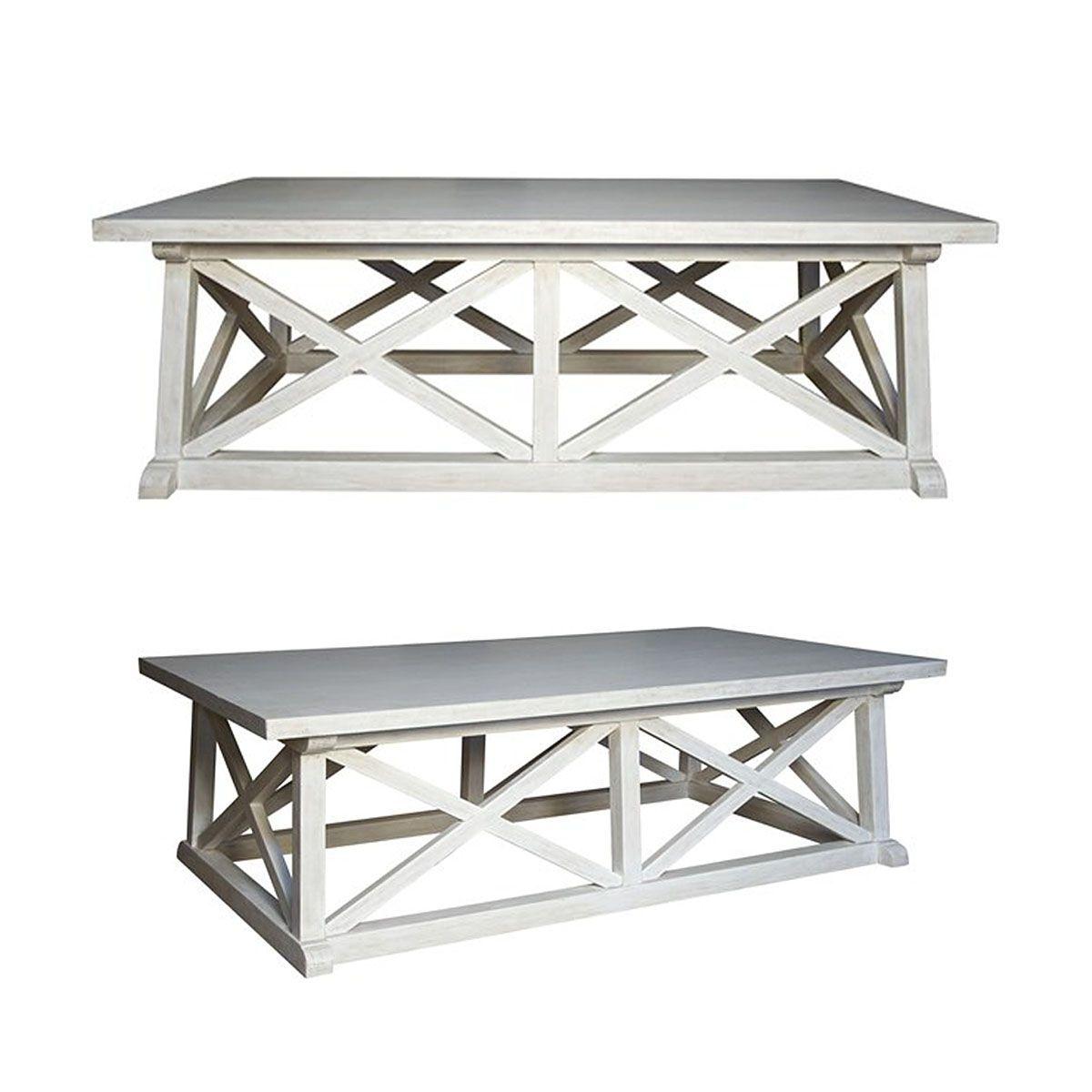 Best Hampton White Washed Mahogany Coffee Table 60 X 34 X 400 x 300