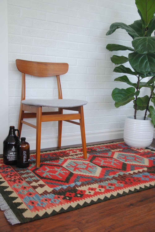2 9 X 3 Handmade Afghan Wool Kilim Rug Free Shipping Usa And Canada By Warpandweftimports On Etsy