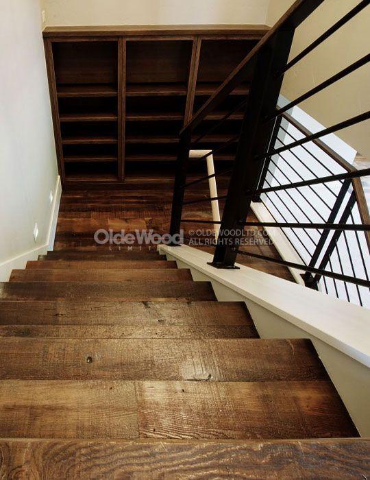 Beau Reclaimed Wood Stair Parts   Reclaimed Stair Treads   Olde Wood