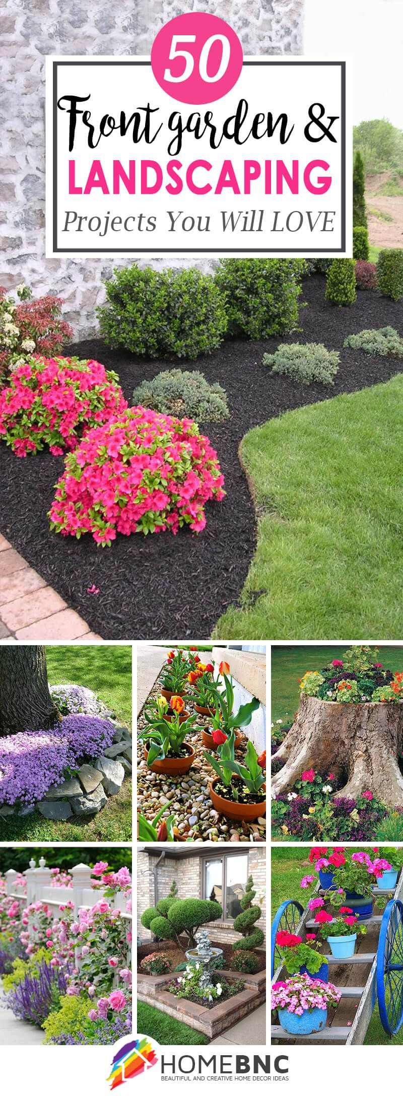 50 Brilliant Front Garden And Landscaping Projects You Ll Love In 2020 Front Garden Landscape Front Yard Garden Landscape Projects