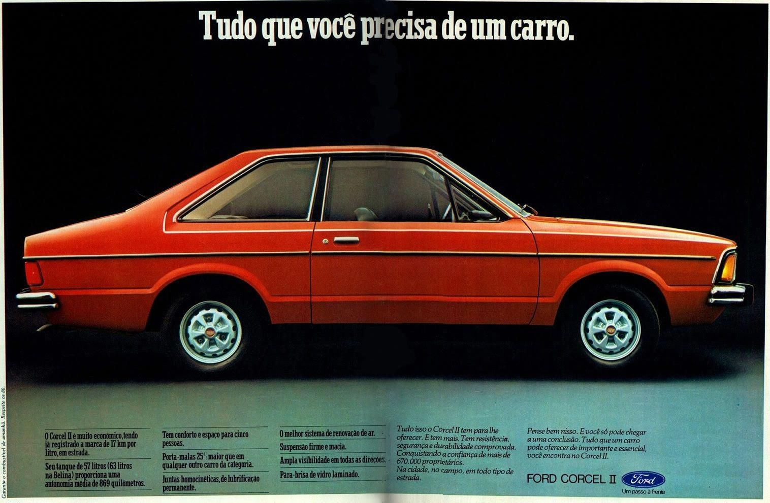Ford Corcel Ii 1978 Historical Advertisements Old