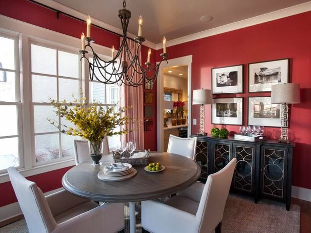 When You Step Into The Dining Room There Is A Beautiful Explosion Of Color Says Interior Designer Linda Woodrum While Red Increases Appetite