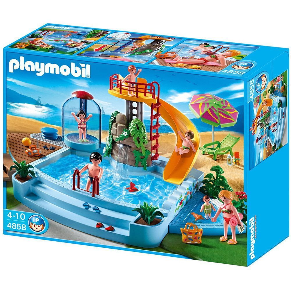 Playmobil Pool With Waterslide 4858 Atticus 39 S Pins Imagination Toys Playmobil Outdoor
