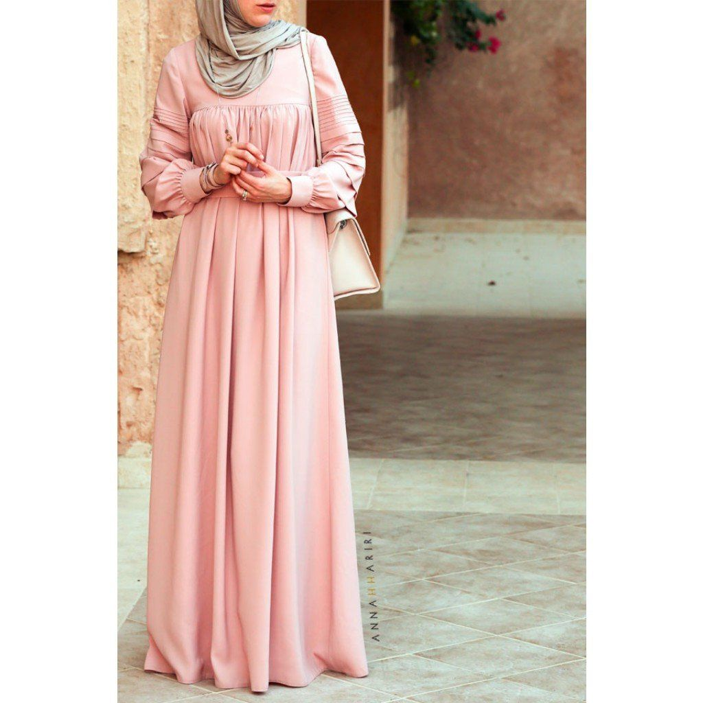 Modest long sleeve maxi dress full length stylish trendy fashion ...