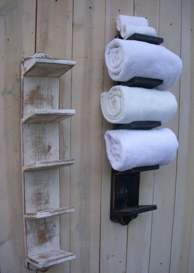 Handtuchhalter aus holz 40 diy ideen designer modelle peter - Handtuchhalter holz ...