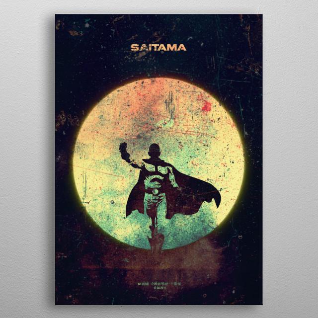 SAITAMA Minimalistic Poster Print | metal posters - Displate | Displate thumbnail