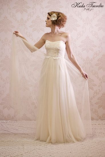 Exclusive Wedding Dress Collection By Kula Tsurdiu Luxurious Silk Nottingham Lace Made To