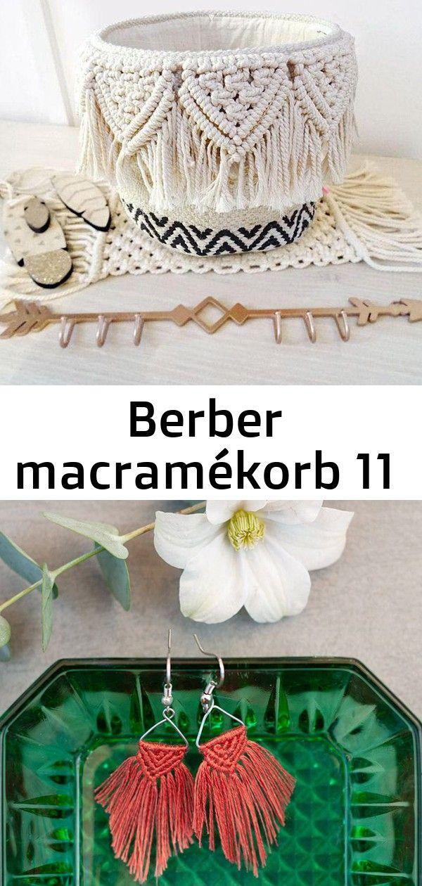 Berber macramékorb 11 Panier berbère macramé Schnell geknüpfte DIY Makramee Ohrringe im BohoStil Makramee Schlüsselbund  Tasche Zubehö...
