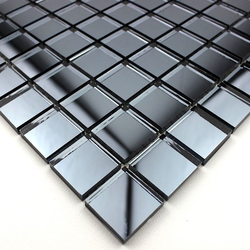 Mosaic Tile Mirror Kitchen And Bathroom Mv Ref Gri Com Imagens Revestimento Pontas Decoracao