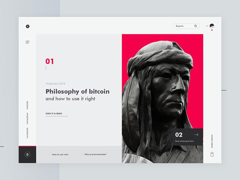 Philosophy Of Bitcoin Web Graphic Design Web Banner Design Web Layout Design