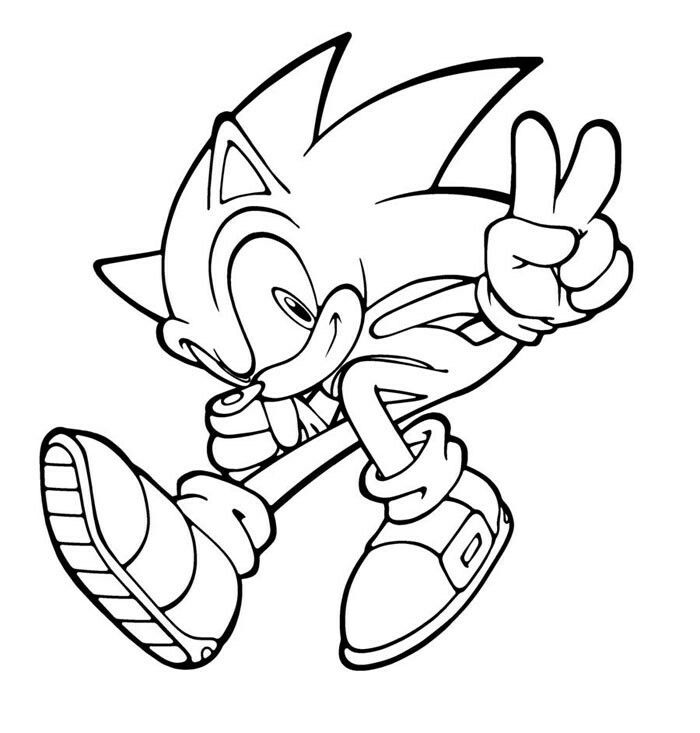 Sonic The Hedgehog Jumping Coloring Page
