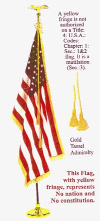 The Admiralty Court Exists Because The U S Is Under Martial Law Alternative Before It S News Gold Fringe Admiralty Law Military Flag