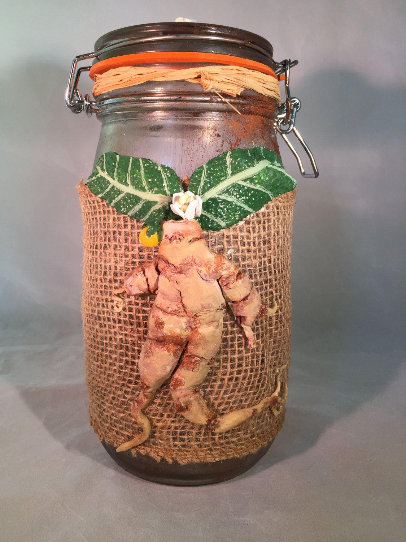 Mandrake Apothecary Jar by SagasCottage on Etsy