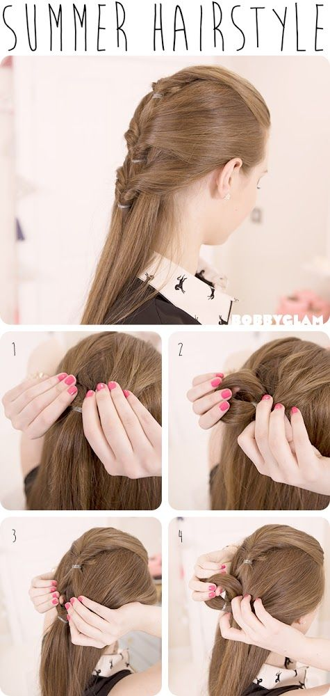 Cute Summer Hairstyle Hair Tutorial Hairstyles Tutorial To Put