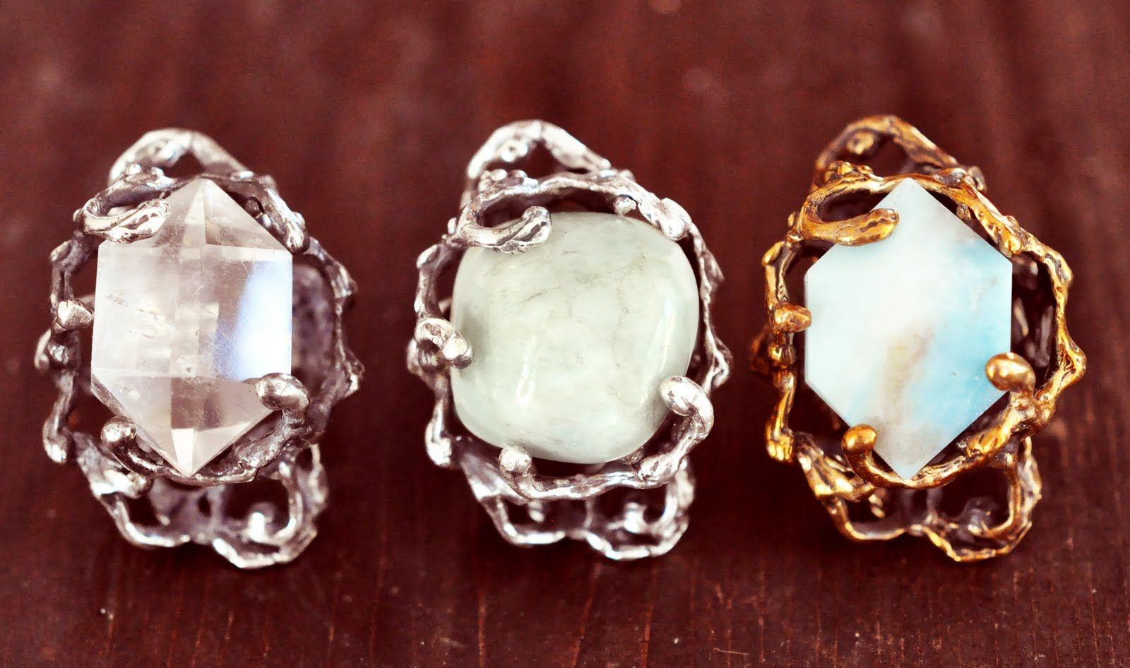 gem stone rings / MANIAMANIA