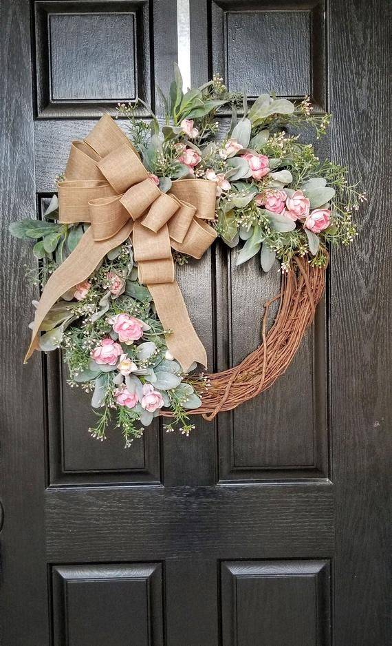 Photo of Wreaths for Front Door, Spring Wreath, Farmhouse Wreath, Front Door Wreath