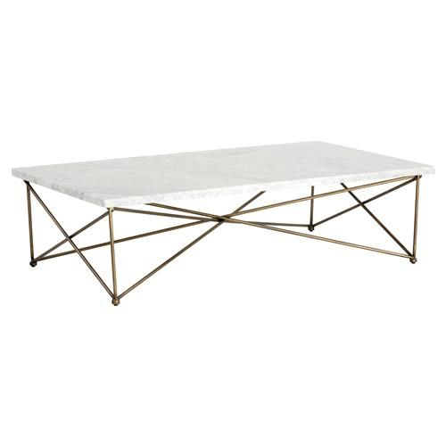 marble and brass coffee table. Molina Modern Classic Rectangular White Carrara Marble Brass Coffee Table And