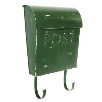 Amazon Com Nach Euro Rustic Mailbox British Green Patio Lawn Garden Rustic Mailboxes Steel Mailbox Security Mailbox