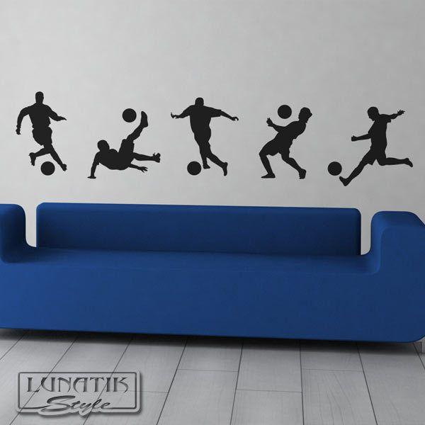 Delightful Wandtattoo Fußballer Set 5 Fußball Spieler   WA96 Von Lunatik Style Via  Dawanda.com