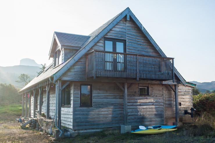 straw bale house with cedar cladding
