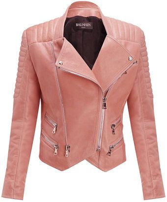 4a776b8f12 Balmain Quilted Leather Biker Jacket - Lyst | The Baddest! | Balmain ...