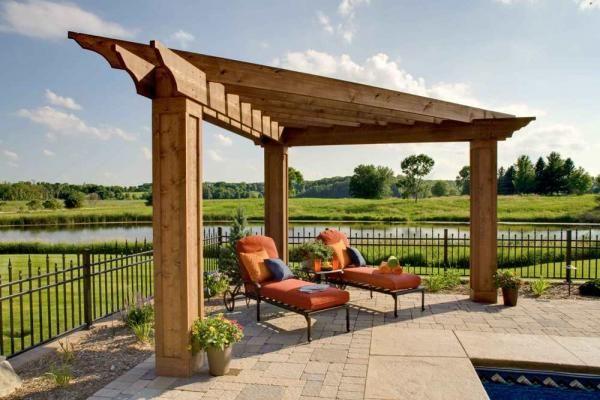 image result for corner pergola on deck patios corner. Black Bedroom Furniture Sets. Home Design Ideas