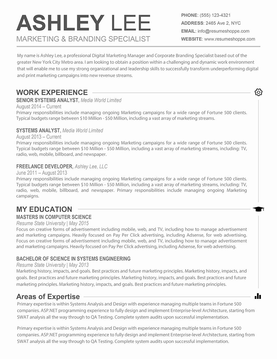 Free Resume Templates for Mac Fresh Resume Template Mac in