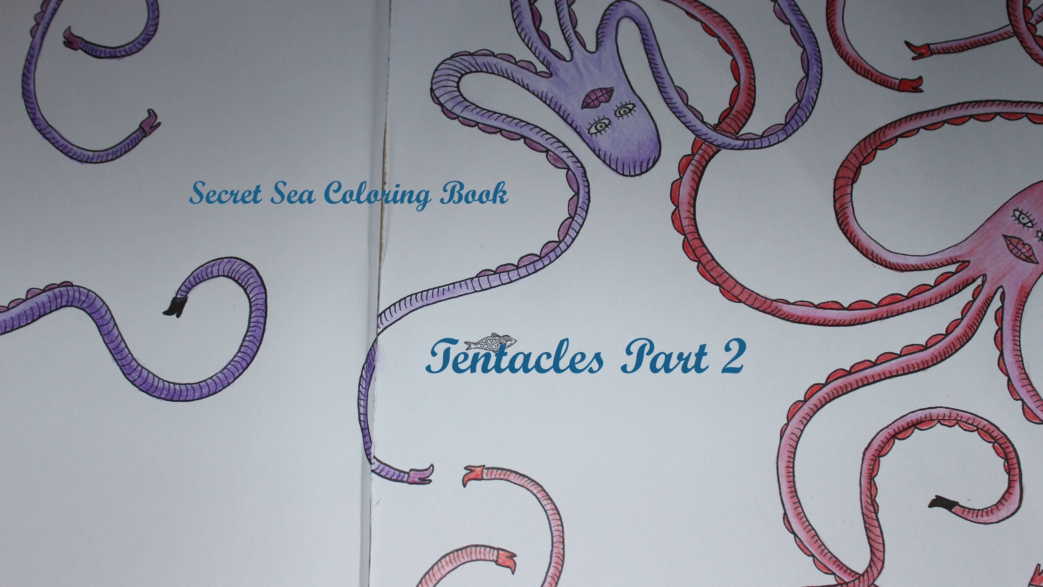 Under the sea coloring book for adults - Secret Sea Coloring Book Wonders Under The Sea Tentacles Part 2