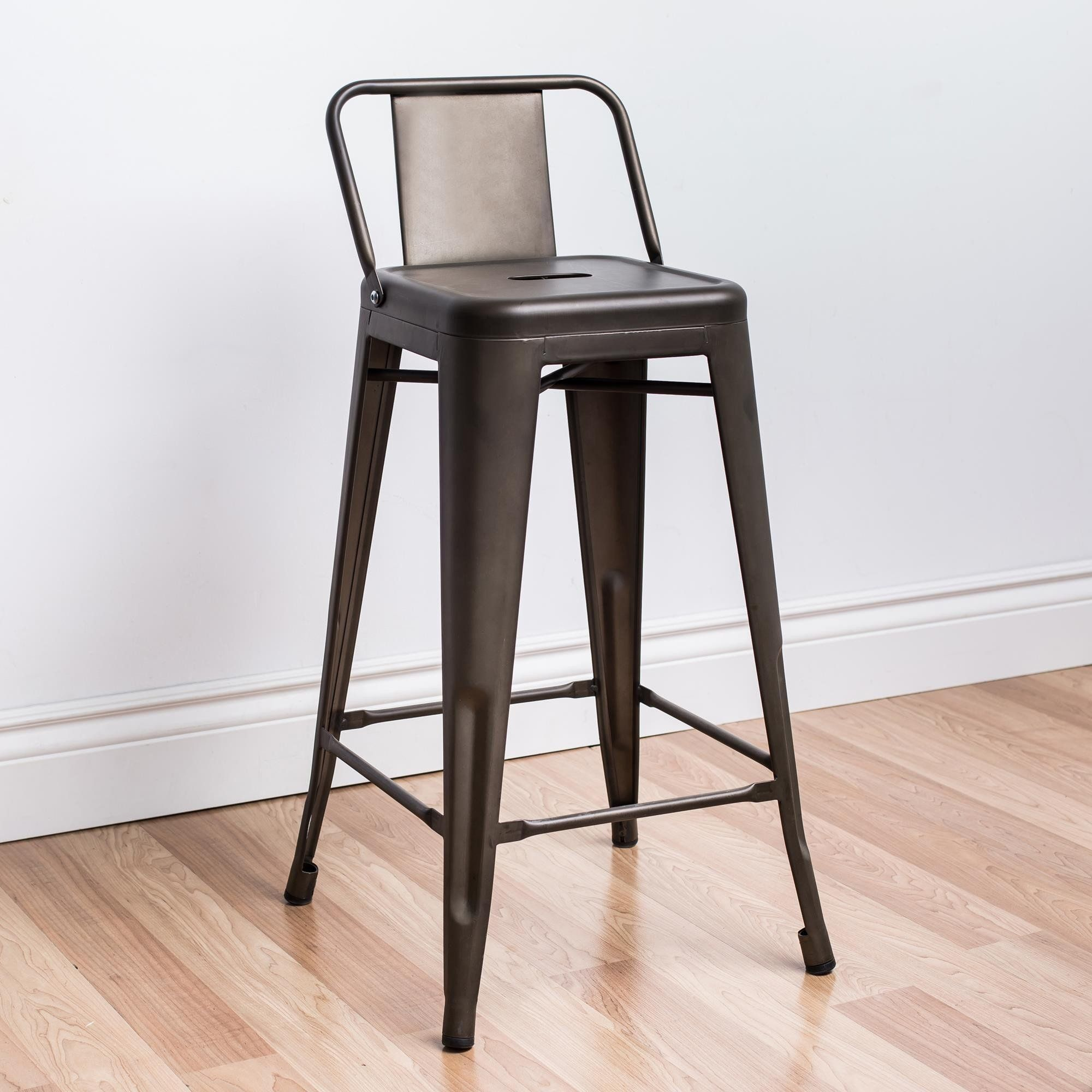 Ksp Toli Metal Counter Stool With Back Gunmetal Available For Sale At The Best Price At Kitc Counter Stools With Backs Metal Counter Stools Stools With Backs
