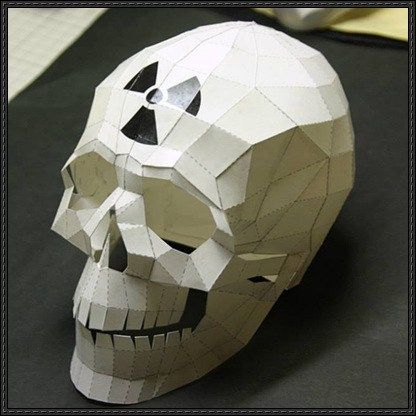New Paper Craft Halloween Nuke Skull Free Papercraft Download On Papercraftsquare 頭蓋骨 ペーパークラフト ペーパーアート