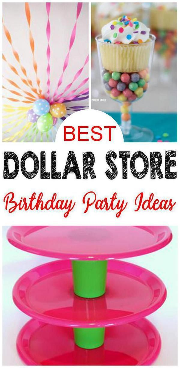 9 Dollar Store Birthday Party Ideas – EASY Dollar Store Hacks and DIY Crafts For The BEST Party Supplies – Decorations – Cupcake Stands – Centerpieces & More #50thbirthdaypartydecorations