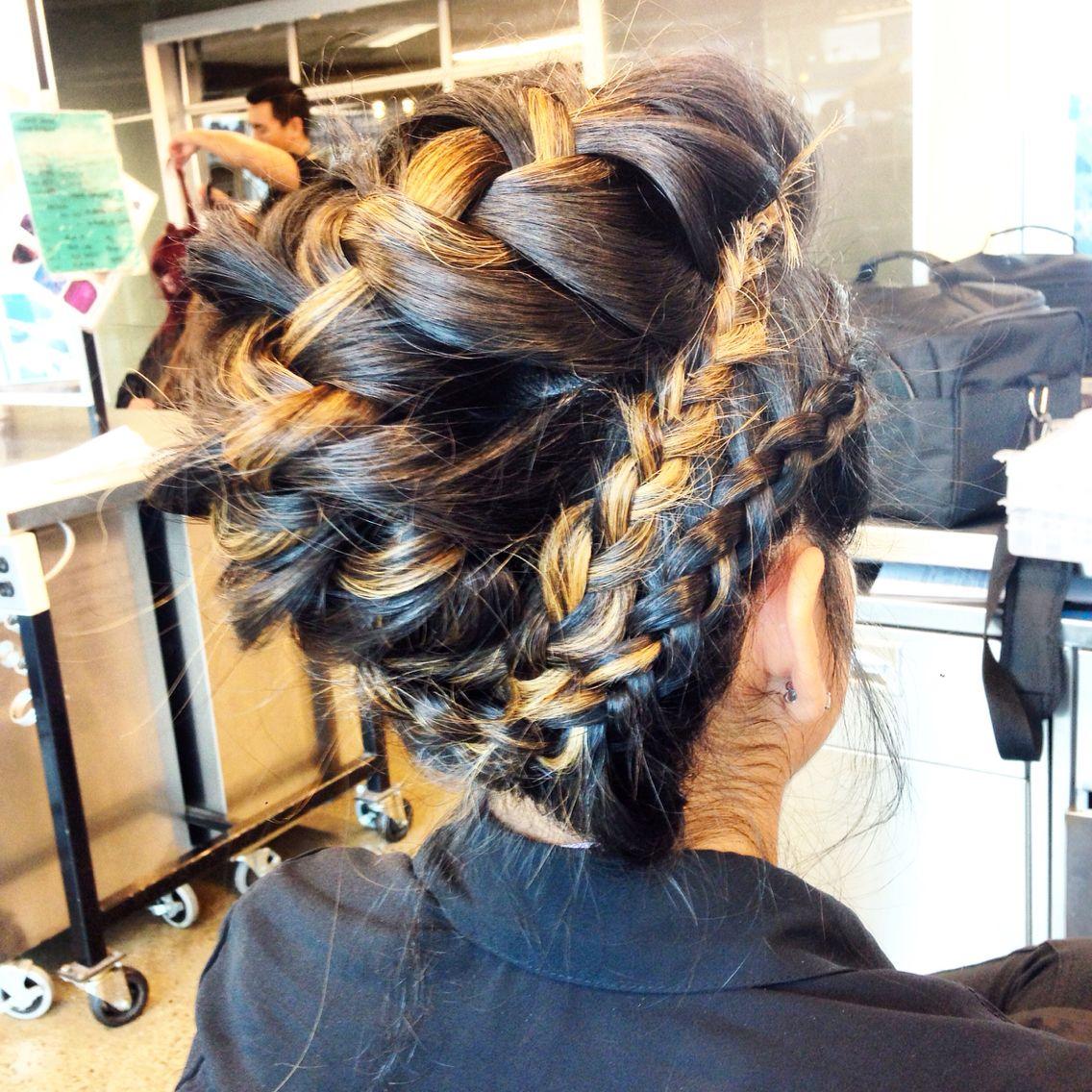 Multibraided mohawk by me my work pinterest braided mohawk