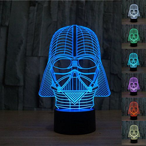 Robot Check Darth Vader Lamp Star Wars Gifts 3d Illusion Lamp