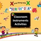 """Classroom Instruments Play Along with """"Surfin' USA"""" by The Beach Boys"""