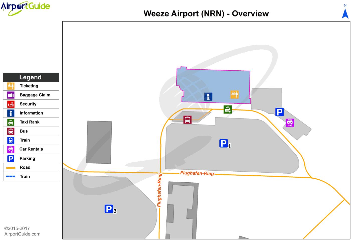 Weeze Weeze (Niederrhein) (NRN) Airport Terminal Map