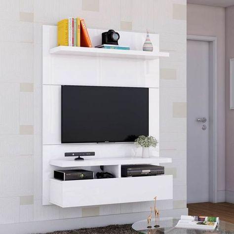 Painel Para Tv Zeus 1 2 Branco Gloss Muebles Para Tv Minimalistas Muebles Para Tv Muebles Para Tv Modernos