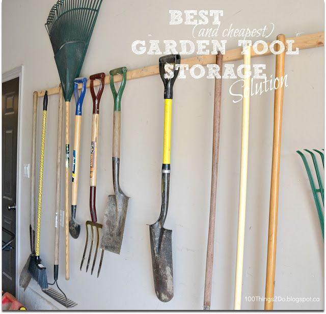 Garden tool storage best and cheapest way to store for Best garden tools to have